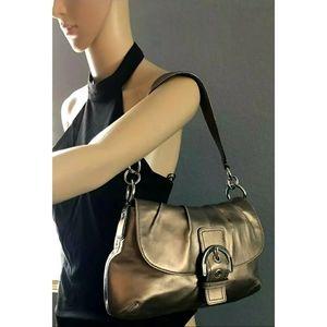 COACH Soho flap metallic leather shoulder bag 😍
